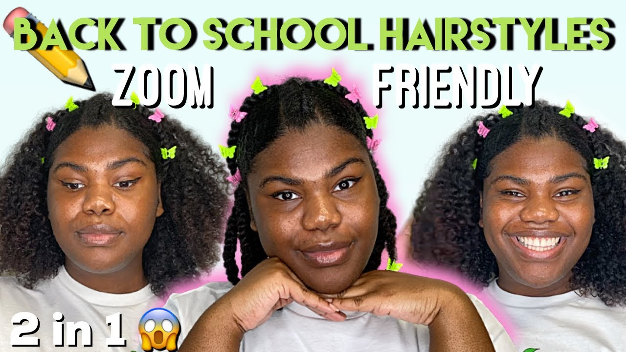 Easy Back to School Hairstyles on Natural Hair ft. Naturall Avocado Collection  🥑