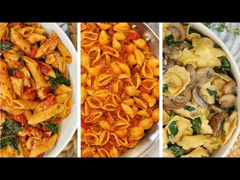 3 Delicious Pasta Recipes | My NEW Favorite Quick + Easy Weeknight Dinner Ideas
