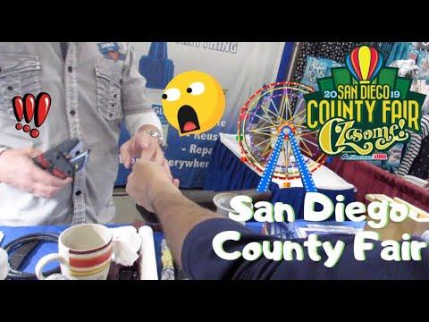 MAN GLUES HIS FINGER TO FRIEND! | Del Mar Fair Vlog 2019