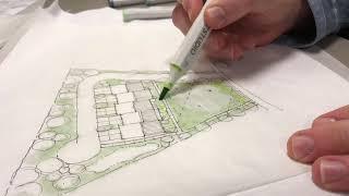 Site plan rendering