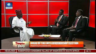Ekiti Election: Fayose Is Crying Wolf Because He Knows Has Lost The Election - Sen. Arise