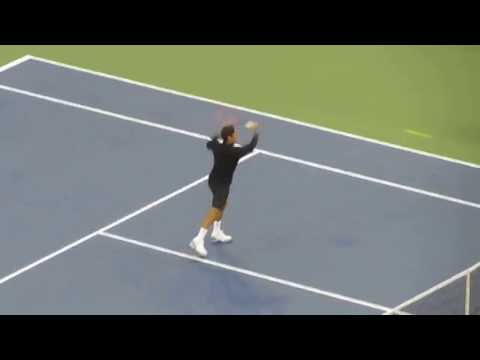 Roger Federer introduction at US Open 2014