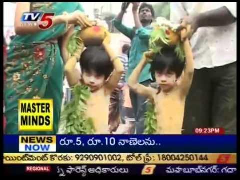 Mathangi Getup In Tirupati Gangamma Jatara(TV5)