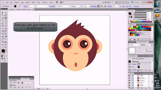 Create Easy and Funny Baby Monkey with Illustrator