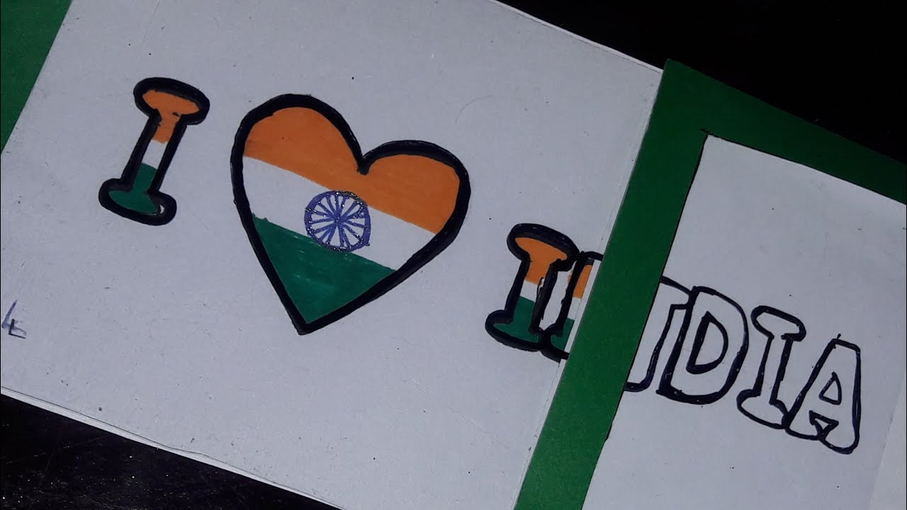 Republic Day Crafts I Love India Magic Card Jan 26th Craft Ideas