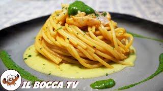 500 - Spaghetti con crema di zucchine e gamberetti...di mangiare non la smetti! (pasta goduriosa) 4k