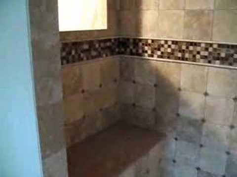 Limestone Travertine Tile Shower Stall Youtube