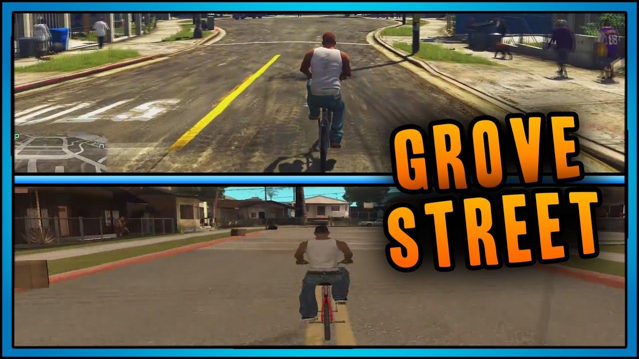 Gta 5 Gta 5 Grove Street Vs Gta San Andreas Grove Street