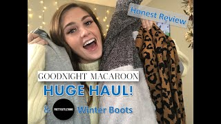 GOODNIGHT MACAROON UNBOXING + PRETTYLITTLETHING WINTER BOOTS