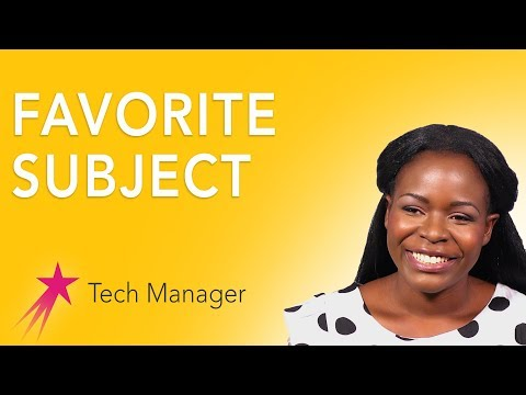 Tech Manager: Favorites - Elizabeth Kalitsiro Career Girls Role Model