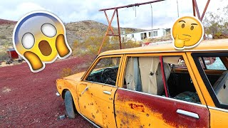 abandoned luxury cars