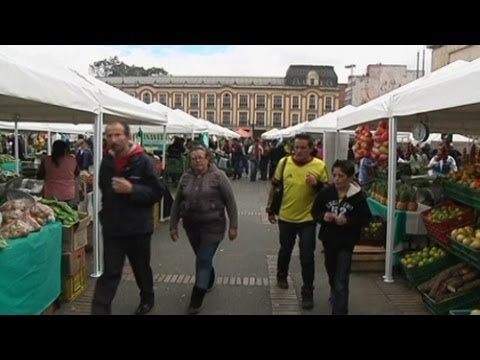Bogota Turns Square Into Massive Food Market on Farmers Day