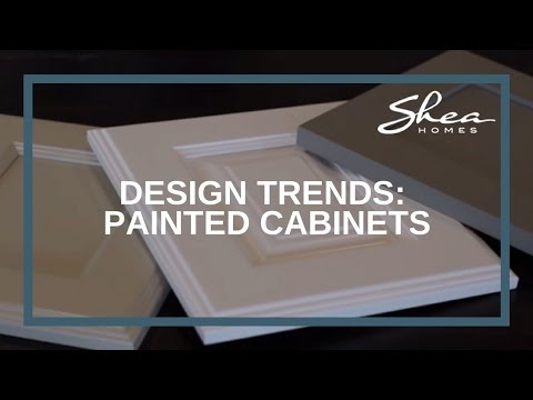 Shea Homes Design Studio - Painted Cabinets Trend