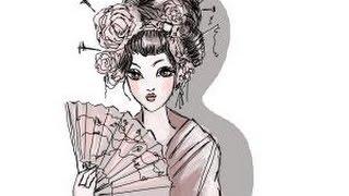How to draw a Geisha