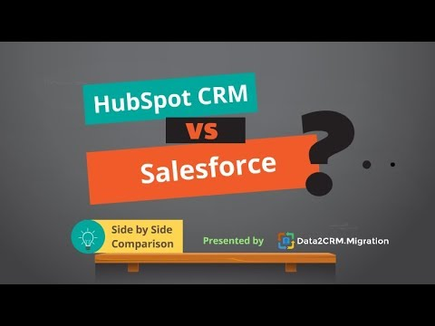 HubSpot CRM VS Salesforce Comparison (2018)
