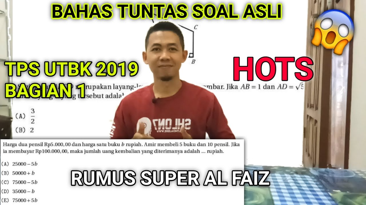 PREDIKSI TPS UTBK 2020 - BAHAS TPS 2019
