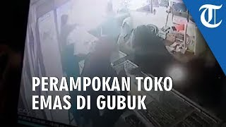Video Detik-detik Perampokan 10 Kg Emas di Gubug Grobogan