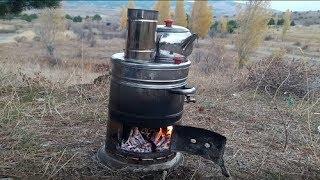 Manzaraya Bak Çay Demle  Odun Ateşinde Semaver Çayı Nasıl Yapılır, Tarifi