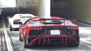 スーパーカー トンネル空吹かし加速サウンド/Supercars tunnel rev accerelation sound in Japan. PowerCraft exhaust cars.