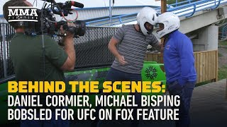 Behind the Scenes: Daniel Cormier, Michael Bisping Bobsled for UFC on FOX - MMA Fighting