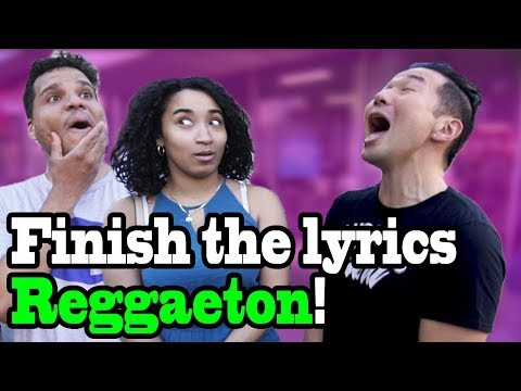 FINISH THE LYRICS in PUBLIC 2!! (Bad Bunny, Ozuna, Daddy Yankee, Nicky Jam and more)