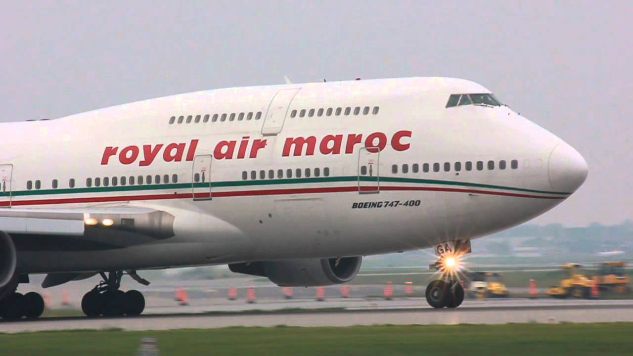 hd royal air maroc boeing 747 400 close up takeoff cyul youtube