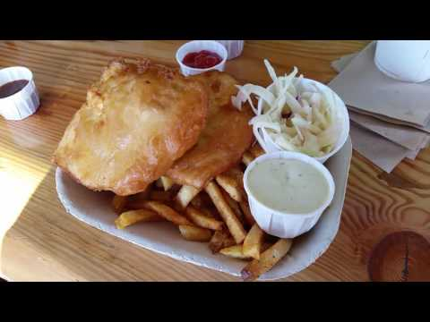 Best Fish And Chips! Red Fish Blue Fish In Victoria, Vancouver Island, British Columbia, Canada