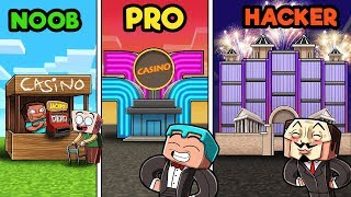 Minecraft - CASINO CHALLENGE! (NOOB vs PRO vs HACKER)