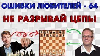 Не разрывай цепь! Ошибки любителей 64. Игорь Немцев, обучение шахматам