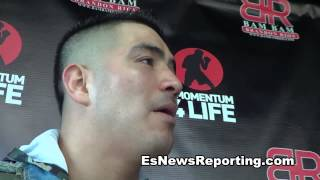 brandon rios give props to bradley he is a warrior