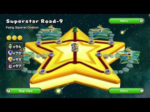 New Super Luigi U - 9-9: Flying Squirrel Ovation [FINALE]