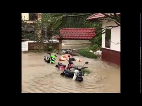 flood 5 january koh Samui 2017 Thailand