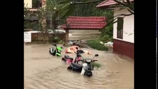 flood 5 january koh Samui 2017 Thailand