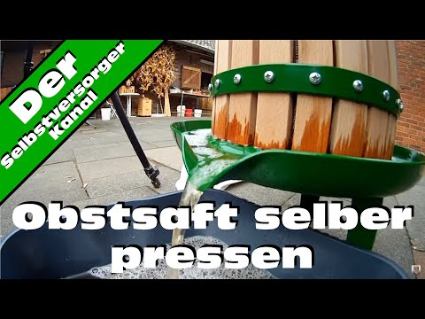 selbstgebaute saftpresse auf holzspalter basis homemade juice press funnydog tv. Black Bedroom Furniture Sets. Home Design Ideas