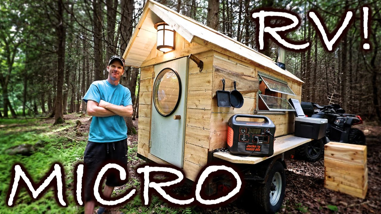 """Building Tiny MICRO 32 sq ft. LUXURY RV Camper - """"The Glamper!"""" (Start to Finish)"""