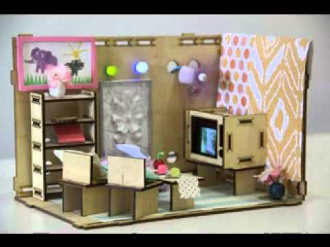 DIY dolls house furniture projects ideas - YouTube