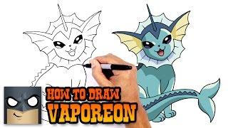 How to Draw Vaporeon | Pokemon