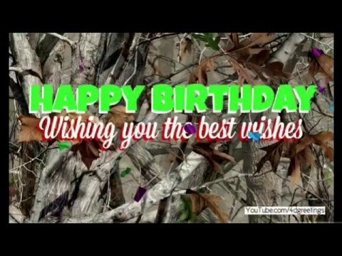 Happy Birthday Camo Card Video Youtube