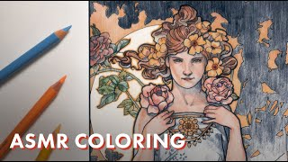 ASMR ART   Coloring with Pencils (Satisfying Sounds)