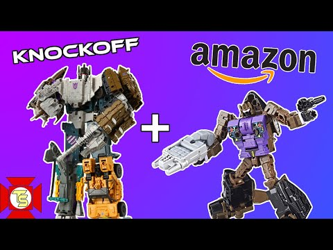 TRANSFORMERS Bruticus Knock-Off & Amazon Blast Off Review