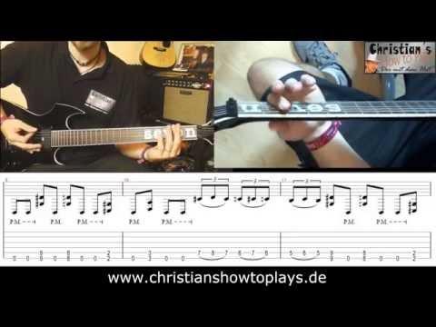 ★Slipknot GEMATRIA Gitarren Tutorial | Tabs/Noten+Overhead Cam Video Lesson [Deutsch}