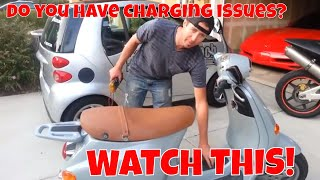 My motorcycle or scooter battery wont hold a charge. How to test the charging sytem.