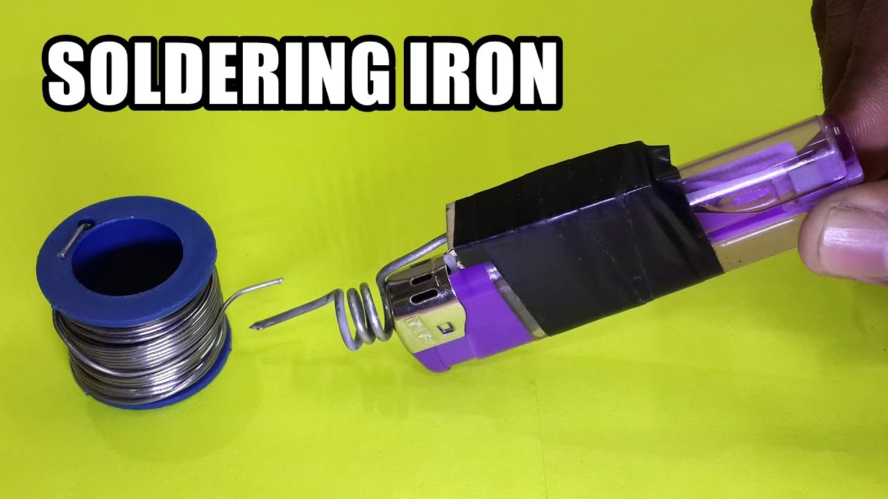 Turn a Lighter into an Emergency Soldering Iron - Life Hack