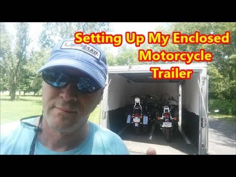 Setting Up My Wells Cargo V-Nose Enclosed Motorcycle Trailer.