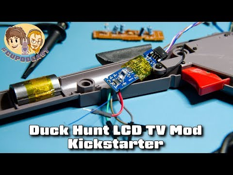 Duck Hunt LCD TV Mod Kickstarter - #CUPodcast thumbnail