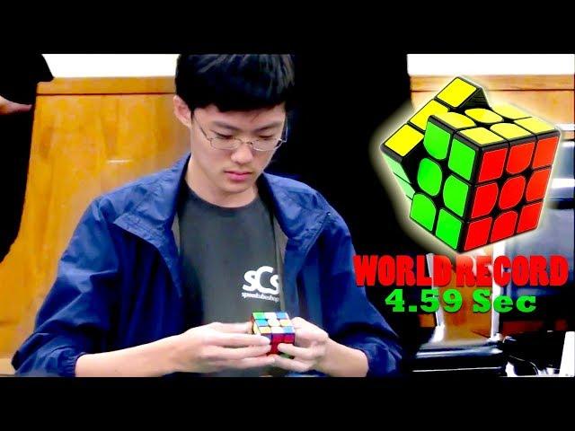 Un niño arma el cubo Rubik en menos de 5 segundos y bate el récord mundial