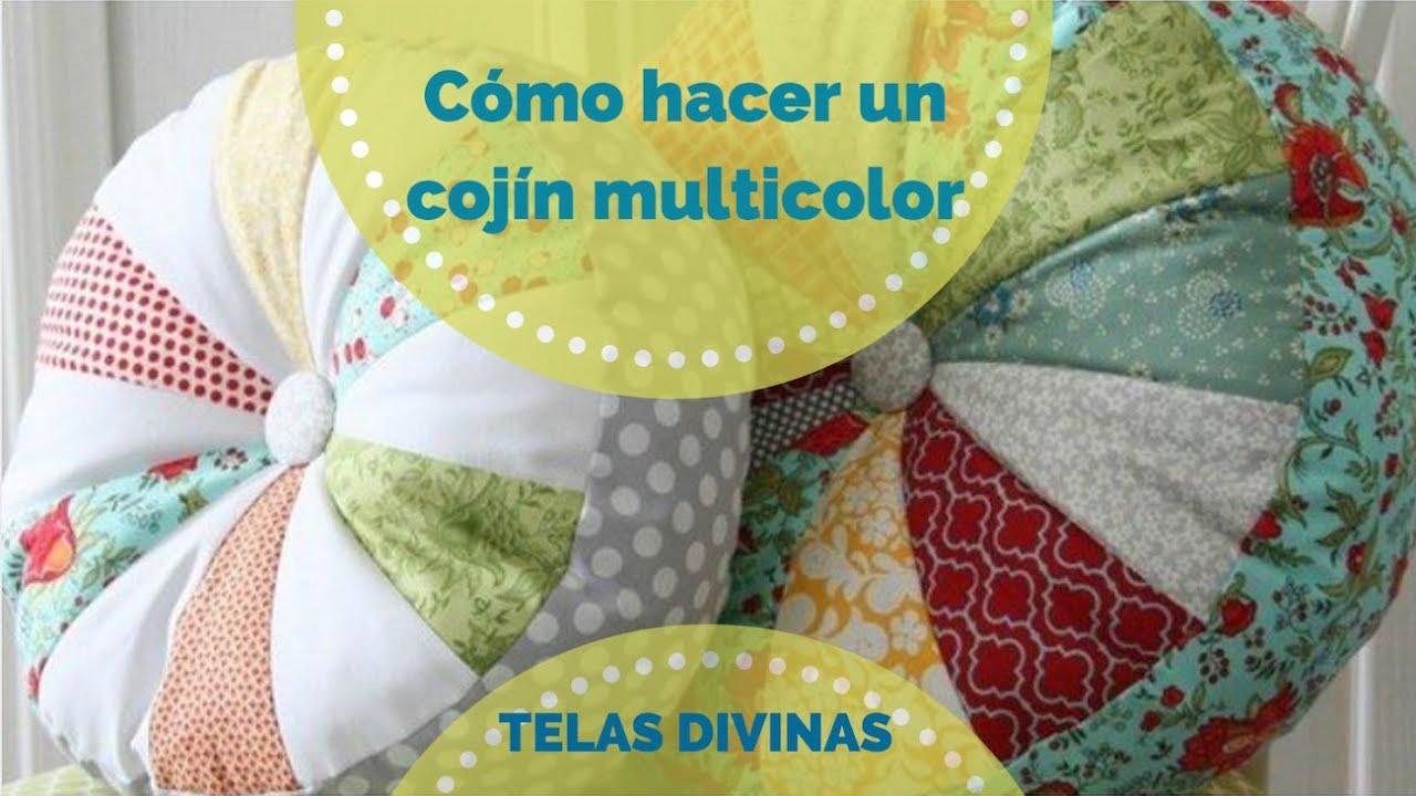 Cómo hacer un Cojín Multicolor, en Español   YouTube