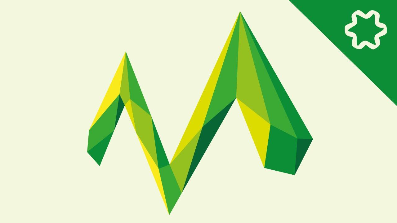 M Logo Custom Polygon ...