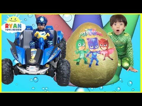 Thumbnail: Pj Masks Toys videos Compilation for Kids! Giant Egg Surprise Headquarters Playset Catboy Gekko