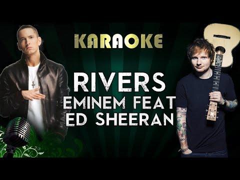 Eminem - River Ft. Ed Sheeran | LOWER Key Karaoke Instrumental Lyrics Cover Sing Along